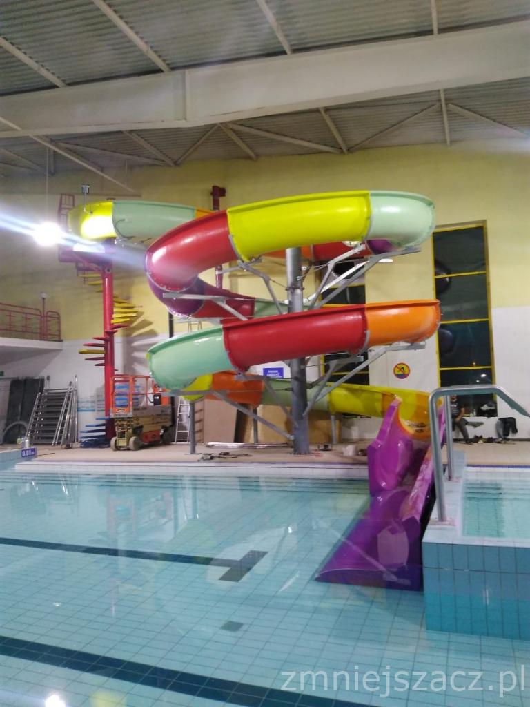 Installation of water slide