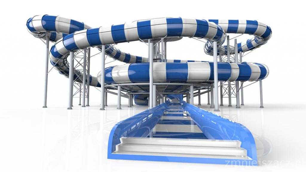 Brand new water slide SPACE RACE